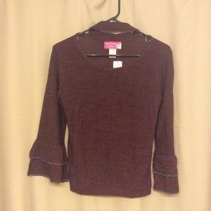 NWT Burgundy Sweater